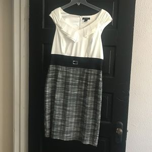 Mixed Media White House Black Market Work Dress